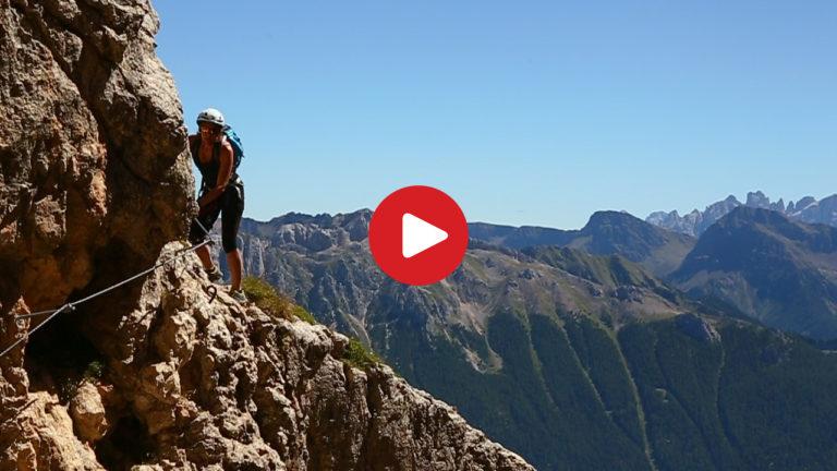 Klettersteig Rosengarten : Video: masarè klettersteig