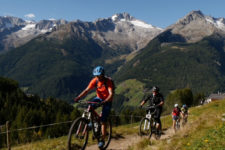 In mountain bike in Valle Aurina