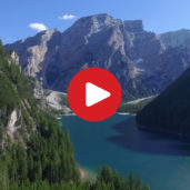 Lake Braies as seen from above