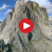 The Val Gardena as seen from above