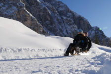 Tobogganing in the Val Campo di Dentro
